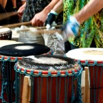 Vagabond Photo Walk - May 29th - Buskers and Drum Circle - drums in action