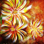 Floral Burst - acrylics on 20 x 24 inch stretch canvas